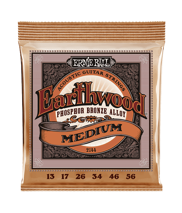 Cuerdas Earthwood Phosphor Bronze Acoustic Medium 2144 Ernie Ball