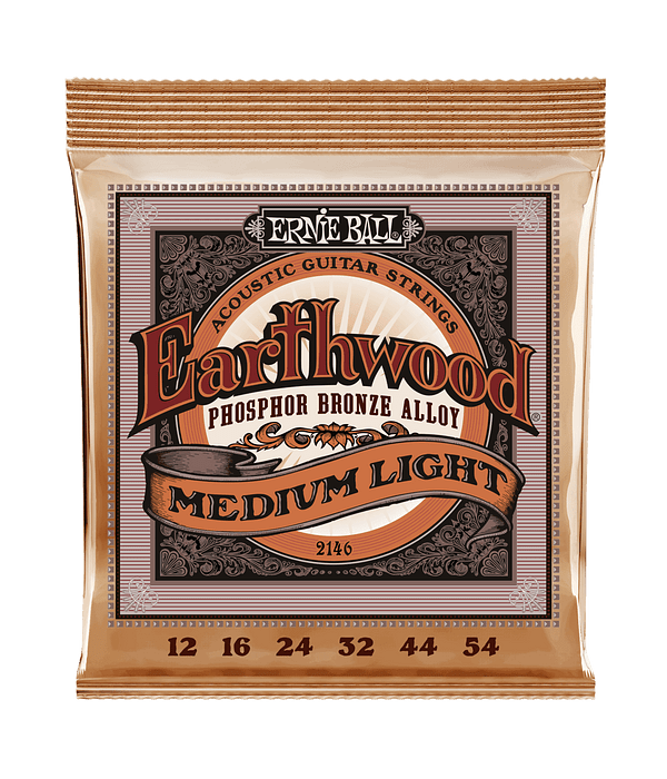 Cuerdas Earthwood Phosphor Bronze Acoustic Medium Light 2146 Ernie Ball