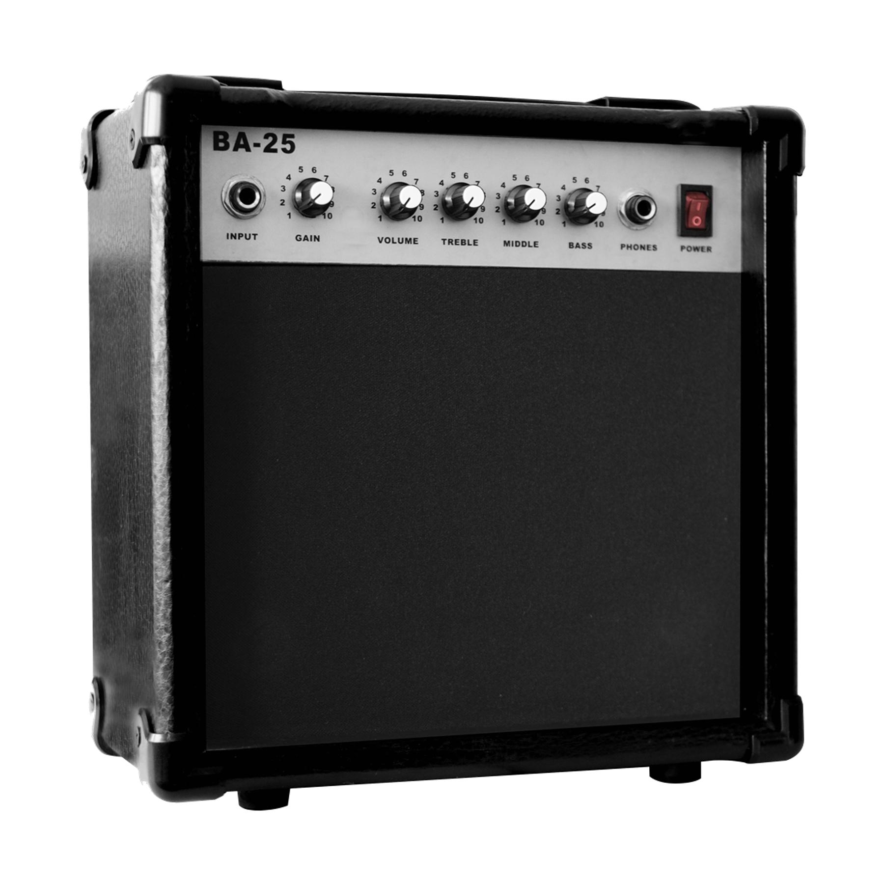 Pack Guitarra Eléctrica Negra Mercury