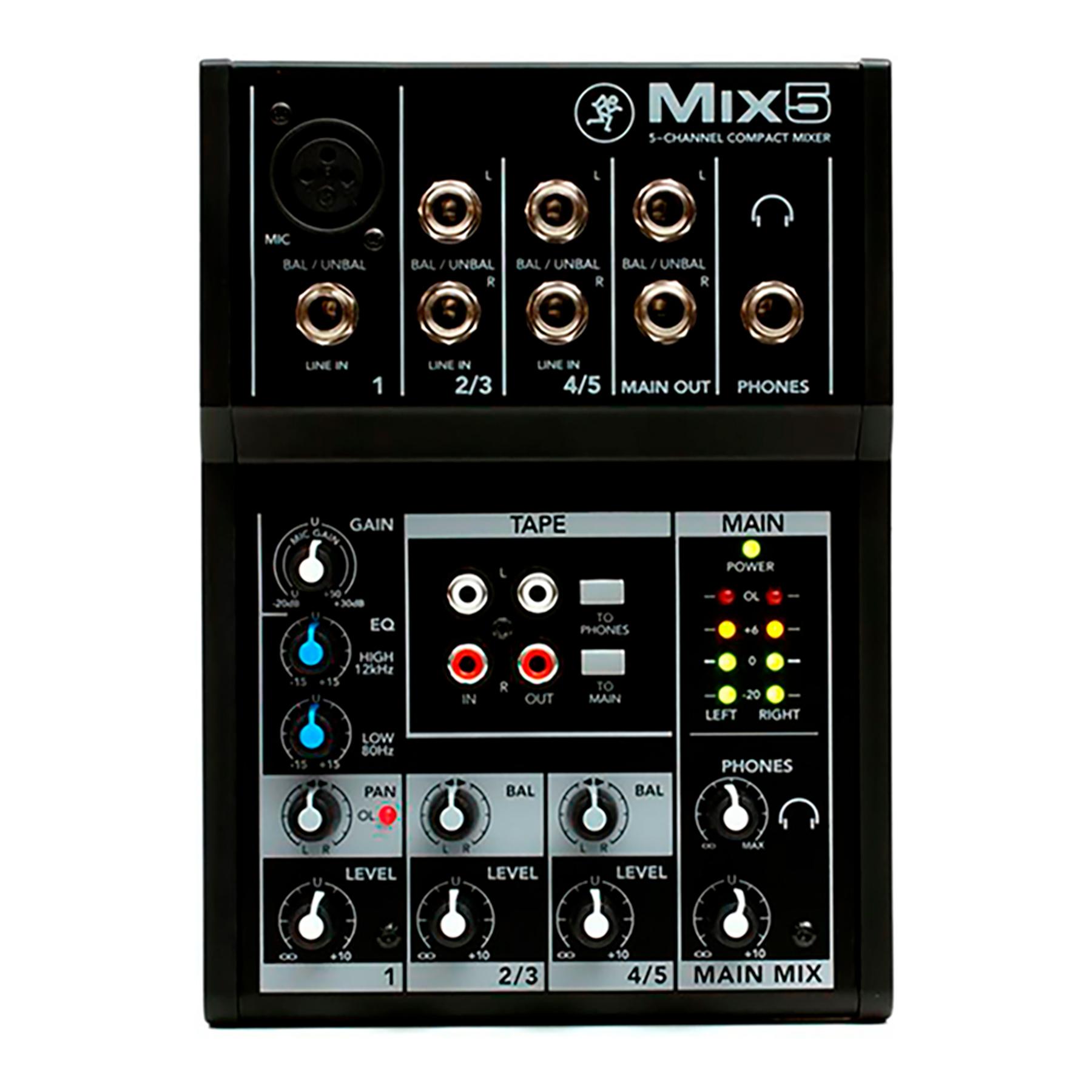 Mixer 5 Canales Mix5 Mackie