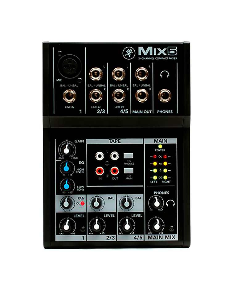 Mixer 5 Canales Mix5 Mackie