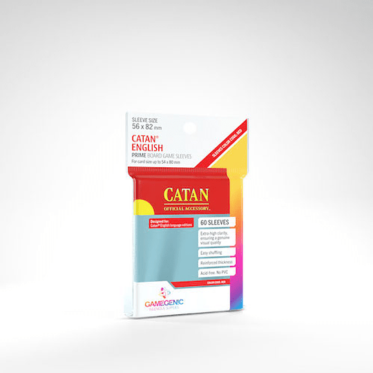 GG: MATTE Sleeves - Catan US Red (56 x 82 mm) (Stock)