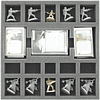35 MM FOAM TRAY FOR THE STAR WARS IMPERIAL ASSAULT - TWIN SHADOWS BOARD GAME BOX (Pedido)