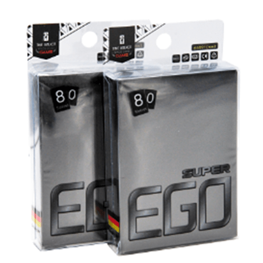 TW Super EGO Premium Matte Sleeves - Black (67 x 92 mm) (Stock)