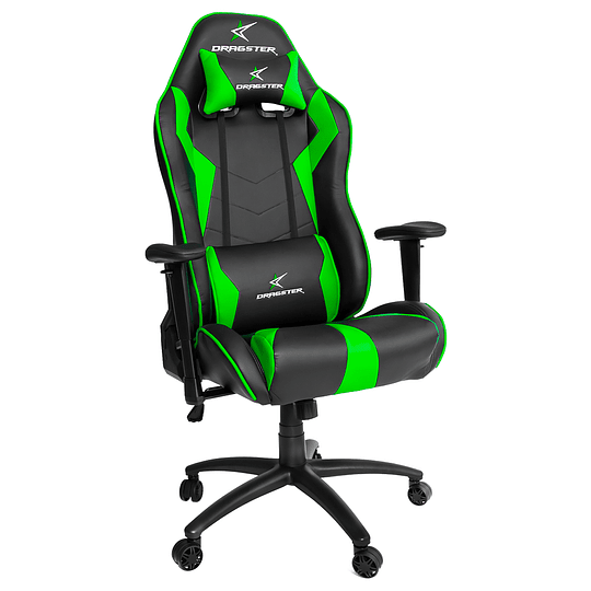 Silla Dragster GT500 Electric Green Gaming Chair - Image 1