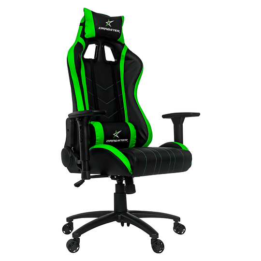 Silla Dragster GT400 Electric Green Gaming Chair - Image 1