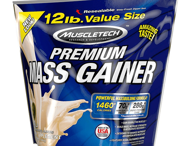 Premium Mass Gainer (12 Lbs) Muescletech