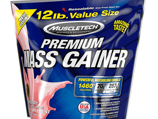 Premium Mass Gainer (12 Lbs) Muescletech