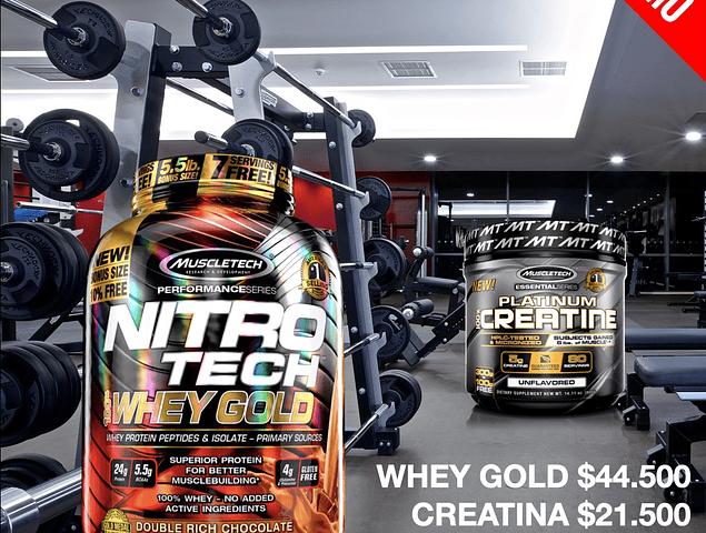 NITROTECH WHEY GOLD 5.5 LIBRAS + CREATINA 400G