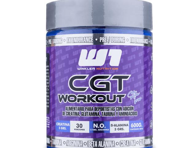 CGT Workout (Creatina-Glutamina-Taurina) 600 Grs. 30 Servicios