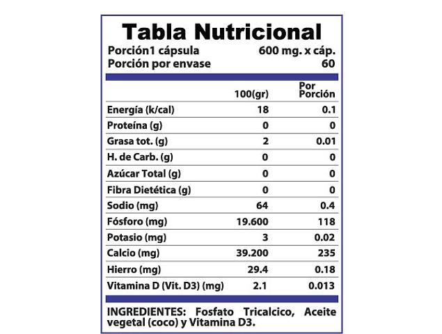 Vitamina D3 Vitta-D 60 Cápsulas