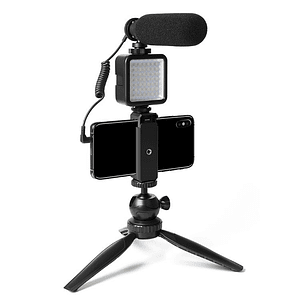 Micrófono profesional con luz LED AU-CM11PL