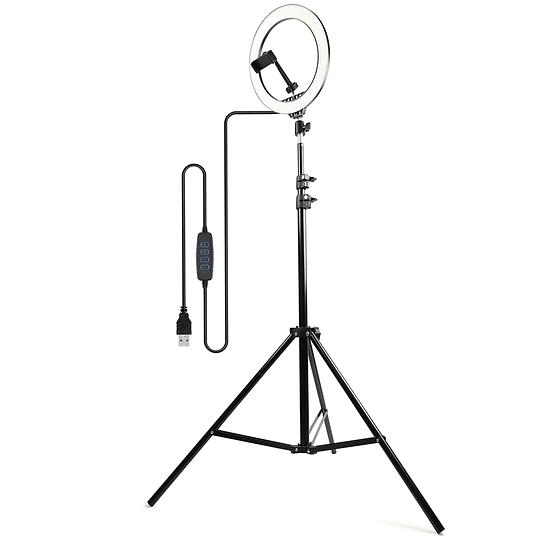 Aro de luz 26cm con tripode expandible HB-26C - Image 2