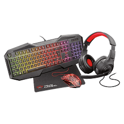 Pack Gaming GXT1180RW Teclado+Mouse+Pad+Audífono