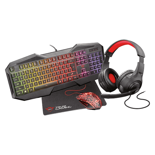 Pack Gaming GXT1180RW Teclado+Mouse+Pad+Audífono - Image 1