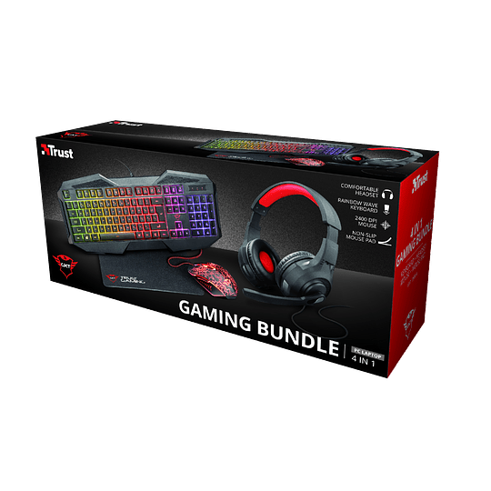 Pack Gaming GXT1180RW Teclado+Mouse+Pad+Audífono - Image 2