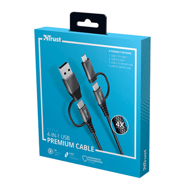 Cable KEYLA STRONG 4-IN-1 USB 1M