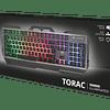 Teclado GAMING metálico iluminado GXT 856 TORAC