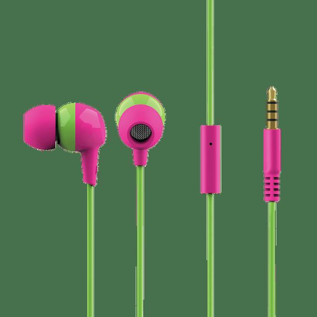 Audífonos infantiles In-Ear BUDDI rosados
