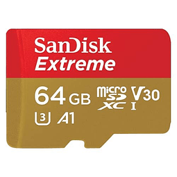 Memoria Micro SD Sandisk EXTREME Clase 10 64GB 160/60MB