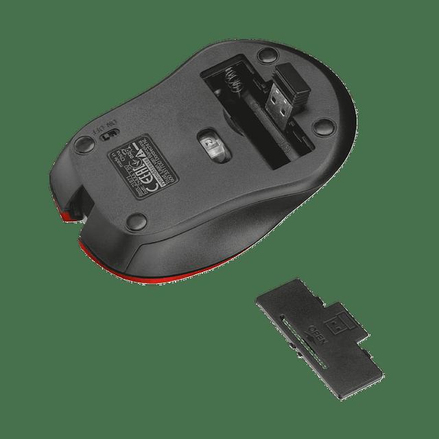 Ratón óptico silencioso MYDO Rojo