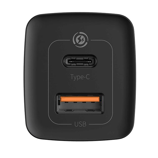Cargador GaN2 Lite de Carga Rápida 65W C + U Negro