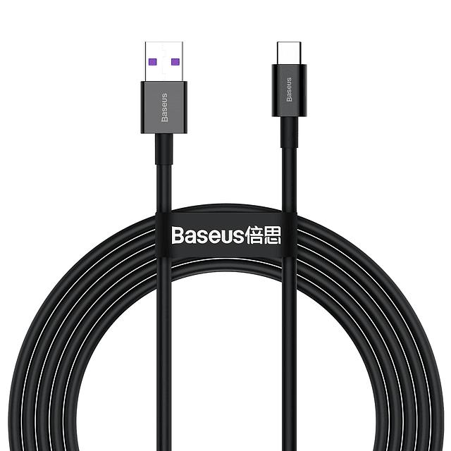 Cable de datos de Carga Rápida USB a Tipo C 66W 2m Negro