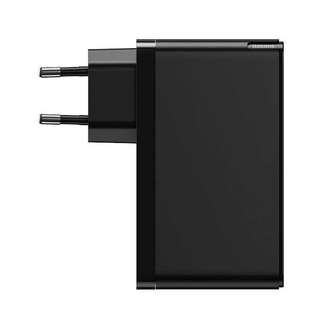 Cargador GaN2 de Carga Rápida 120W 2C + U Negro  + Cable 100W Tipo C a Tipo C 1m