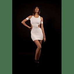 HERBERT DRESS white