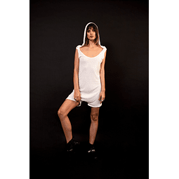 HAKA SHORTS JUMPSUIT white