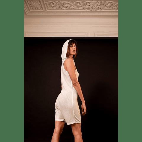 HAKA SHORTS JUMPSUIT white