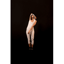 HAKA PANTS JUMPSUIT white