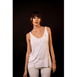 INDRA TOP white