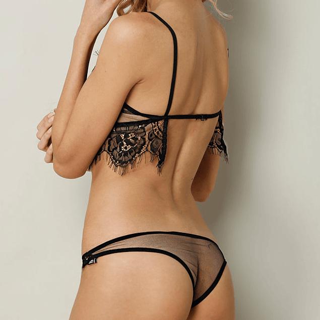 Conjunto de bralette sexy triangular
