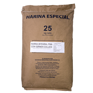 Harina Integral Fina con Germen de Trigo 25 kg