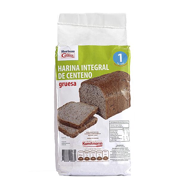 Harina Integral Centeno 1 Kg Gruesa Papel