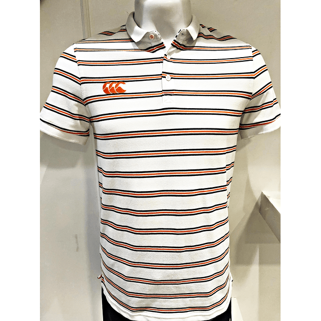 Polo Stripe White Canterbury