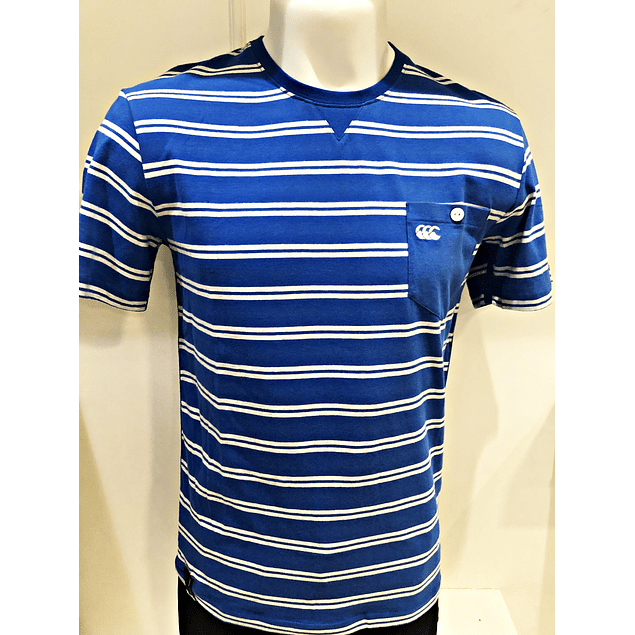 Polera Directoire Blue Pocket Stripe Canterbury