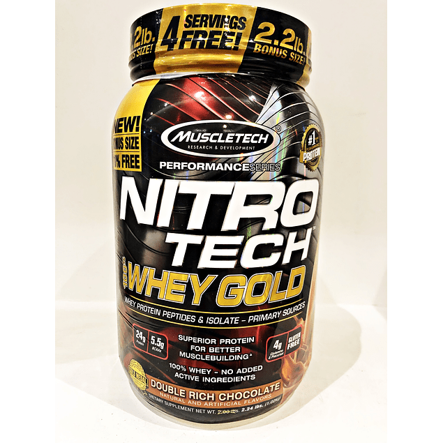 Proteina Nitrotech 100% Whey Gold 2lb Muscletech