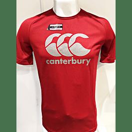 Polera Vapodri Poliester Flag Red Canterbury