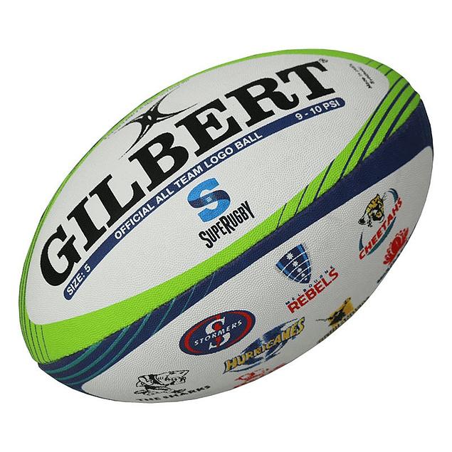 Balon Super Rugby Logos Gilbert