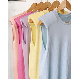 PASTEL PADDED SHOULDER MUSCLE T