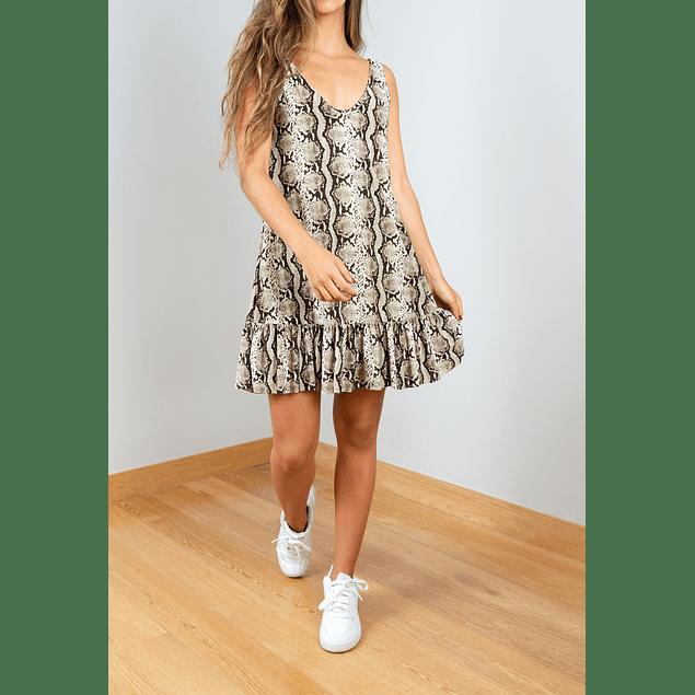 MINI ANIMAL PRINT DRESS (Light)