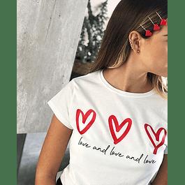 LOVE AND LOVE AND LOVE TEE