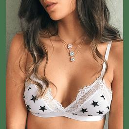 LACE BRALETTE WHITE STARS