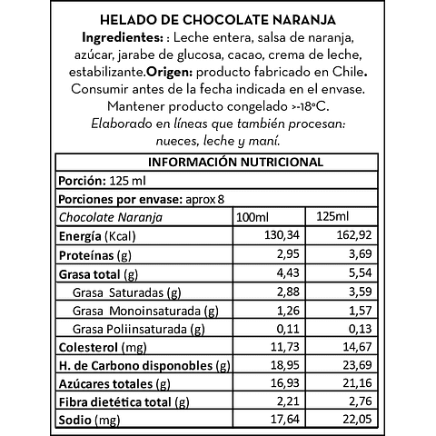 Chocolate con Naranjitas