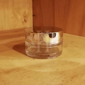 Pote Vidrio Plata Shiny 30 ml