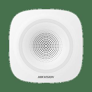 Sirena Inalámbrica Interior para Panel de Alarma Hikvision 110 dB, Modelo: DS-PSG-WI