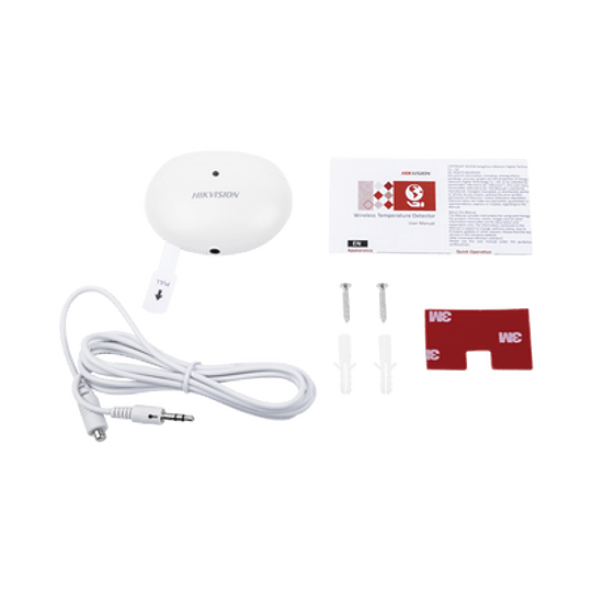 Detector de Temperatura Inalámbrico para Panel de Alarma Hikvision, Modelo: DS-PD1-TP-W - Image 2