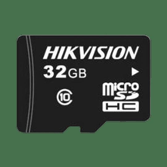 Memoria Hikvision Micro SD, Clase 10 de 32 GB, Especializada Para Videovigilancia, Modelo: HS-TF-L2/32G/P